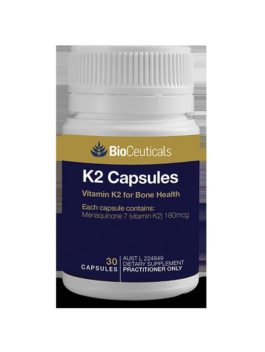 BioCeuticals K2 Capsules - Vitamin K2 for Bone Health