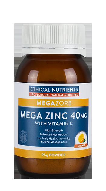 Ethical Nutrients MEGAZORB Mega Zinc 40mg Powder | Orange