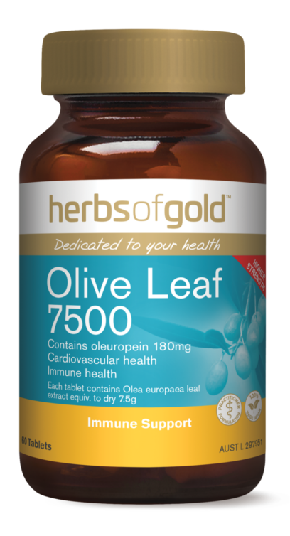 Herbs of Gold Olive Leaf 7500 - 60 Capsules