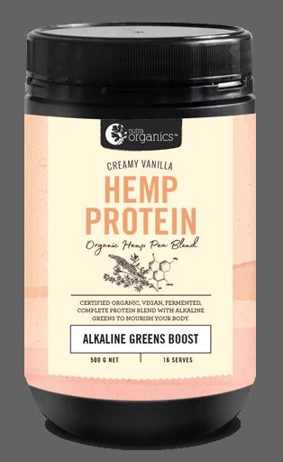 Nutra Organics Hemp Protein | Creamy Vanilla | Alkaline Greens Boost