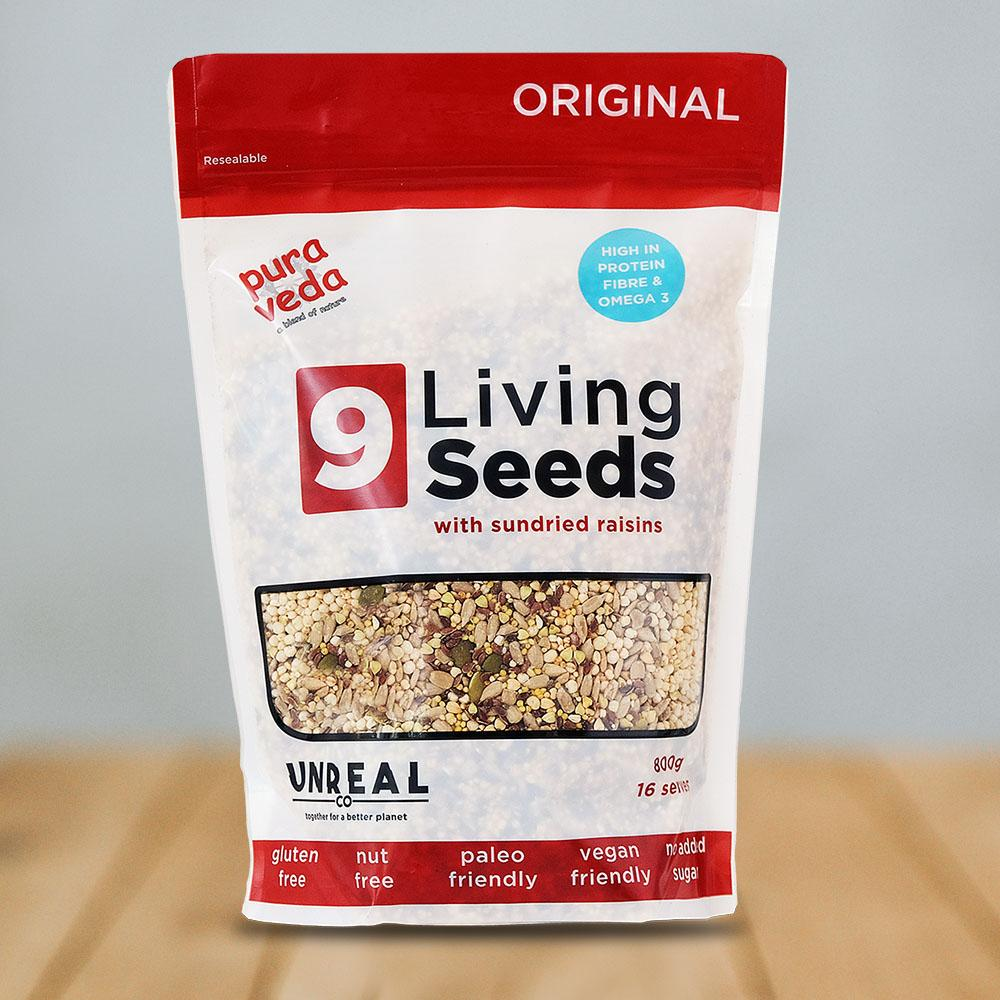 Pura Veda Original - 9 Living Seeds | Nuts, Grains & Fruit