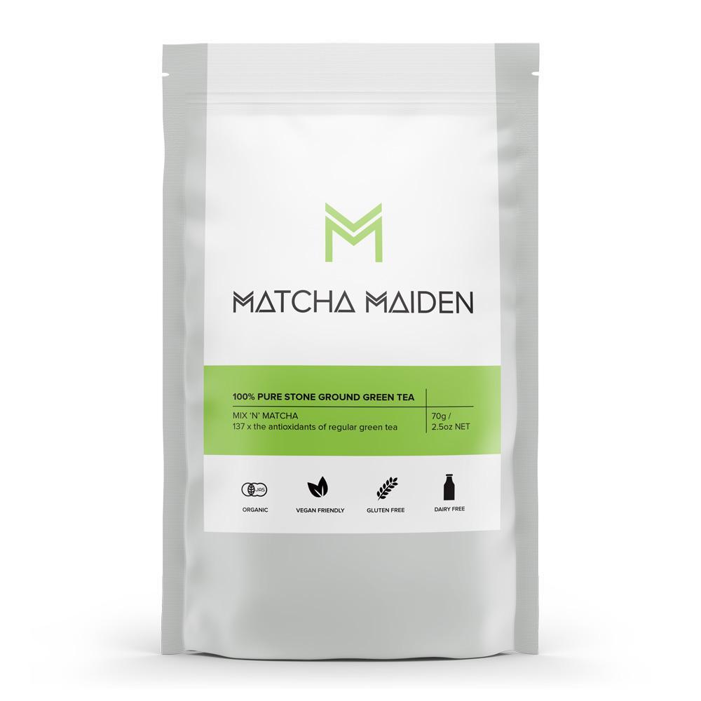 Matcha Maiden Organic Matcha Powder- Pure Ground Green Tea
