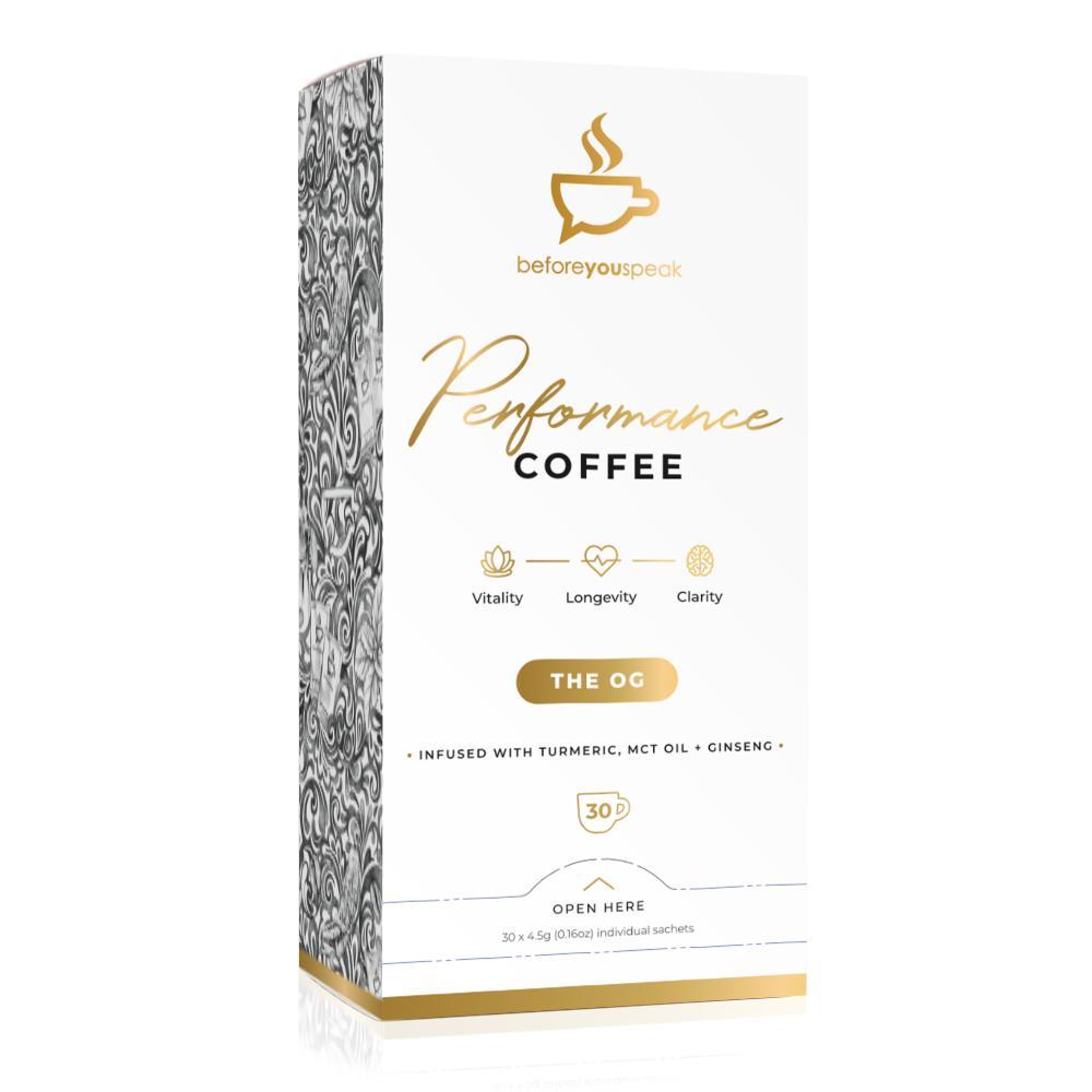 Before You Speak Performance Coffee | The OG