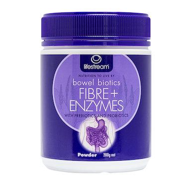 Lifestream Bowel Biotics Fibre + Digestive Enzymes