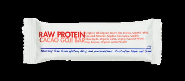 Health Food Guys Raw Protein Goji & Cacao Bar