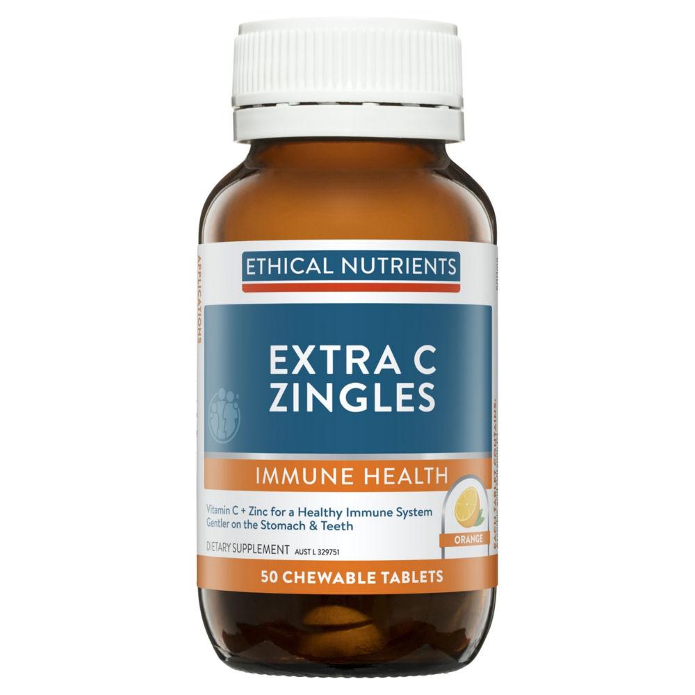 Ethical Nutrients IMMUZORB Extra C Zingles Orange - Chewable Vitamin C