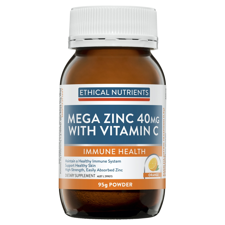Ethical Nutrients Mega Zinc 40mg 90g Powder