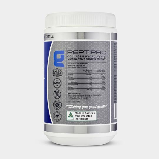 GelPro Peptipro Collagen Hydrolysate Beef Gelatin Nutritional Info