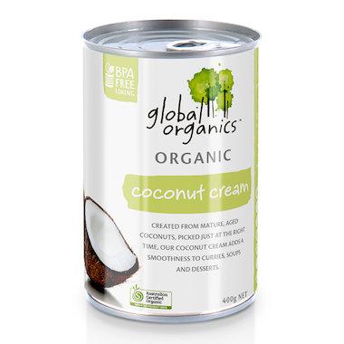 Global Organics Coconut Cream Organic 400g