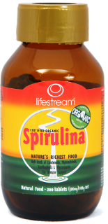 Lifestream Spirulina Tablets :: Certified Organic