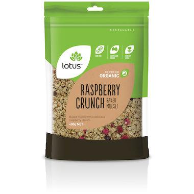 Raspberry Crunch (Baked Muesli) Organic 400g