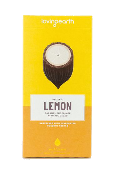 Lemon Caramel Chocolate - Raw Organic - Loving Earth