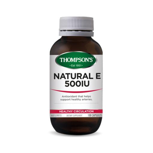 Thompsons Natural E 500iu 100 Capsules