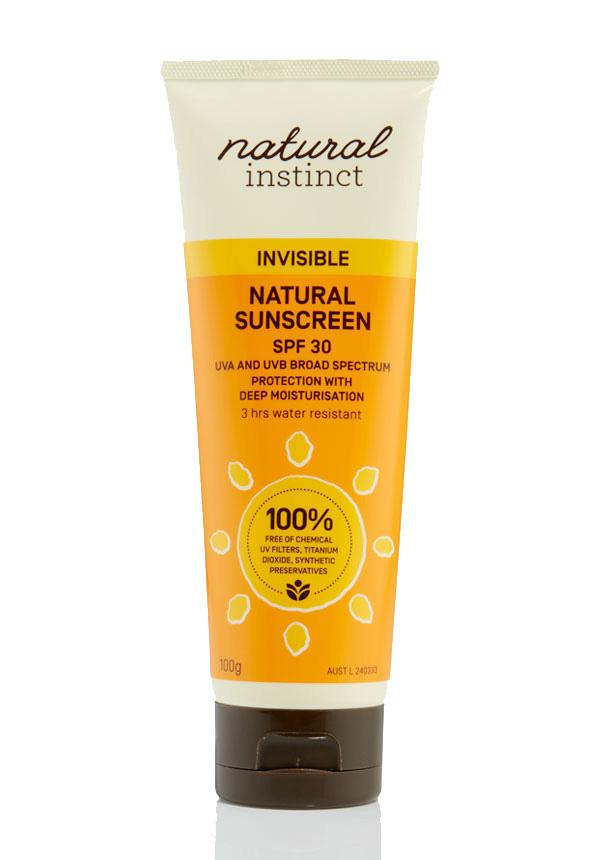 Natural Instinct Invisible Natural Sunscreen SPF30