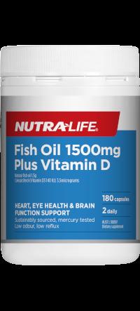 NutraLife Fish Oil 1500mg Plus Vitamin D