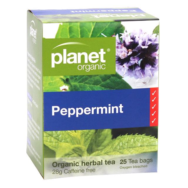 Planet Organic Peppermint Tea - Herbal Teabags