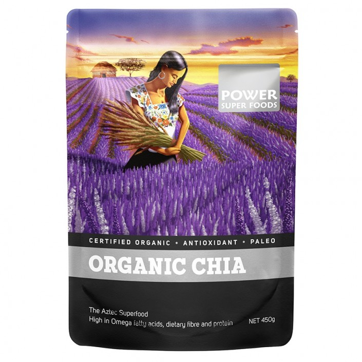 Power Super Foods Organic Raw Chia Seeds