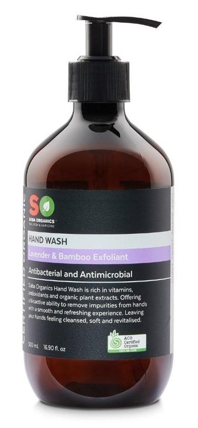 Saba Organics Hand Wash Lavender & Bamboo Exfoliant