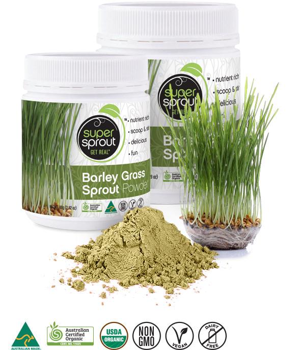 Super Sprout Barley Grass Sprout Powder - Organic Australian Grown