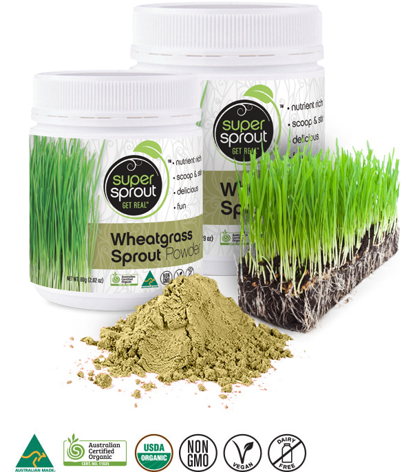 Super Sprout Wheatgrass Sprout Powder - Organic Australian Grown
