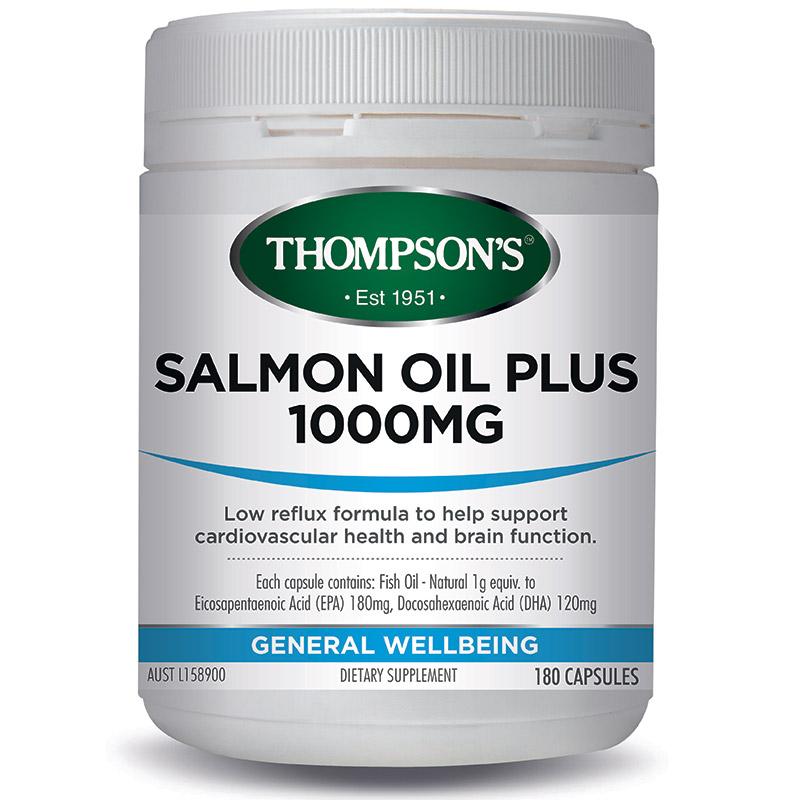 Thompsons Salmon Oil Plus 1000mg