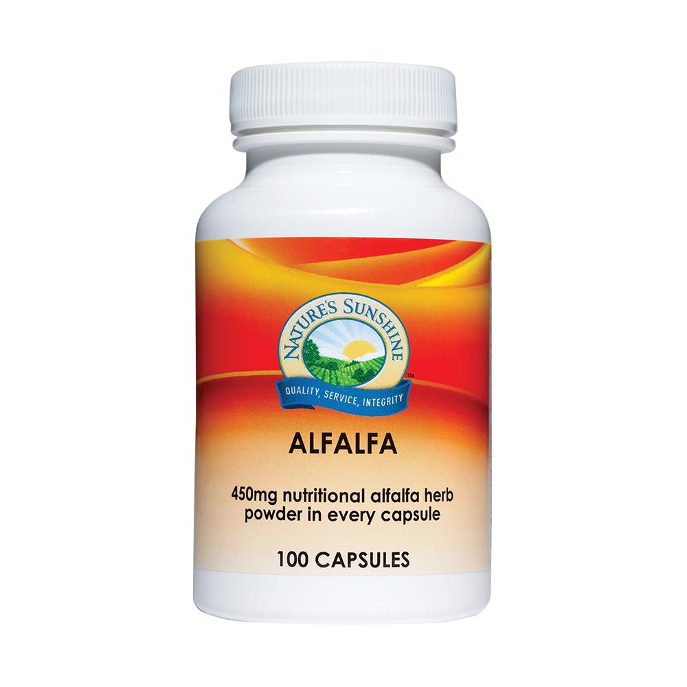 Nature's Sunshine Alfalfa 450mg Capsules