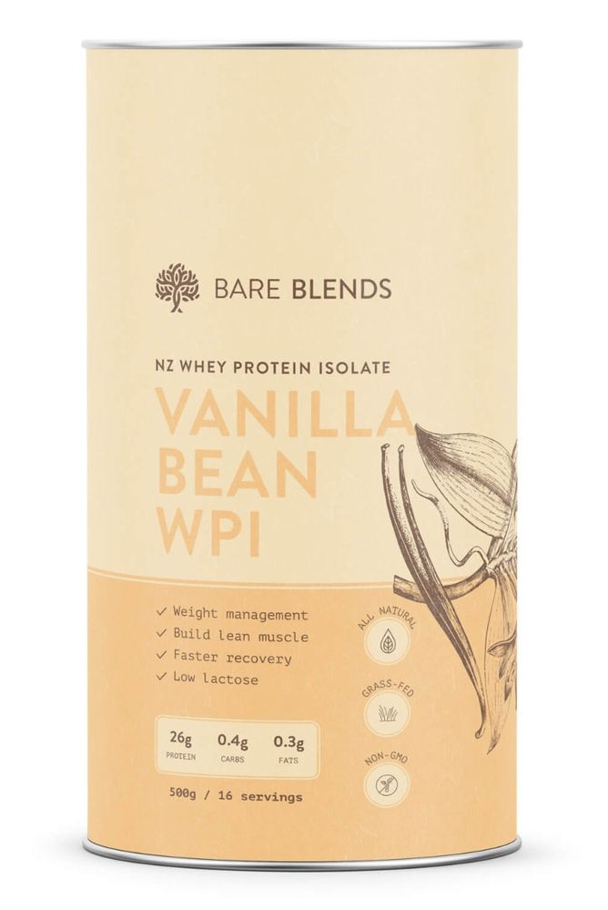 Bare Blends Organic Vanilla Bean Native WPI Whey Protein