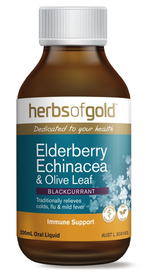 Herbs of Gold Elderberry Echinacea & Olive Leaf