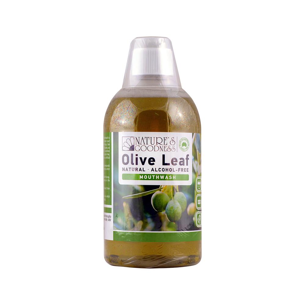 Nature's Goodness Olive Leaf Mouthwash (alcohol free) 500ml