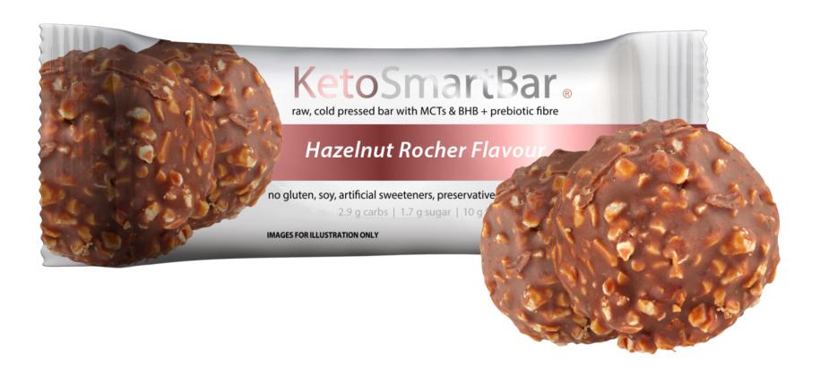 Keto Smart Bar - Hazelnut Rocher Flavour