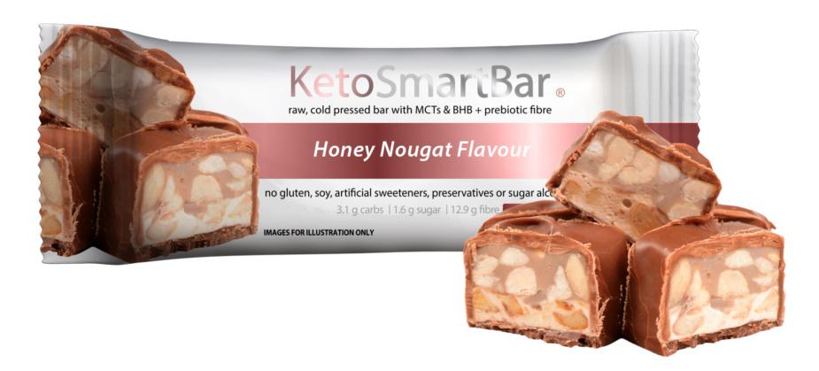 Keto Smart Bar - Honey Nougat Flavour