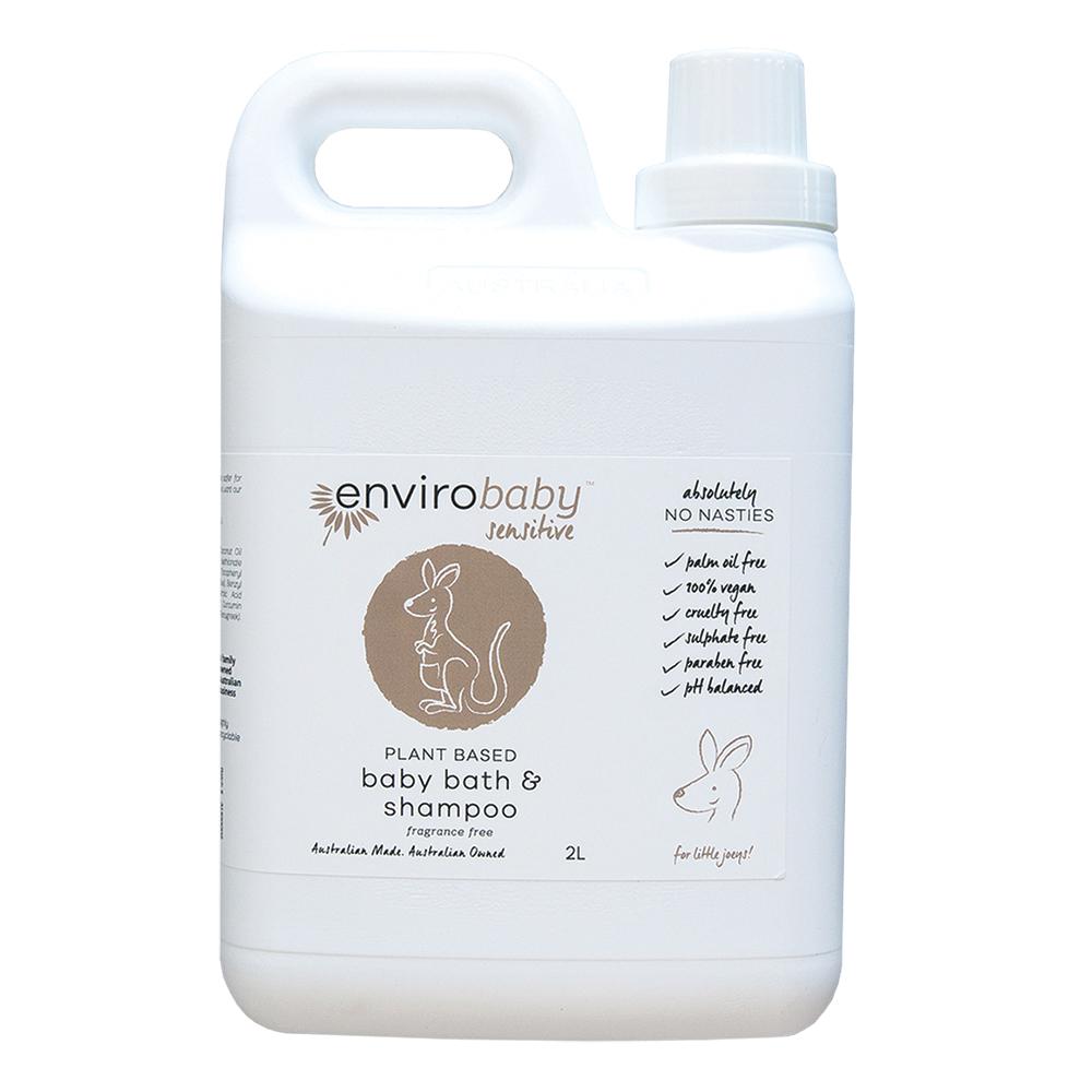 EnviroBaby Sensitive Baby Bath Shampoo Fragrance Free 2L