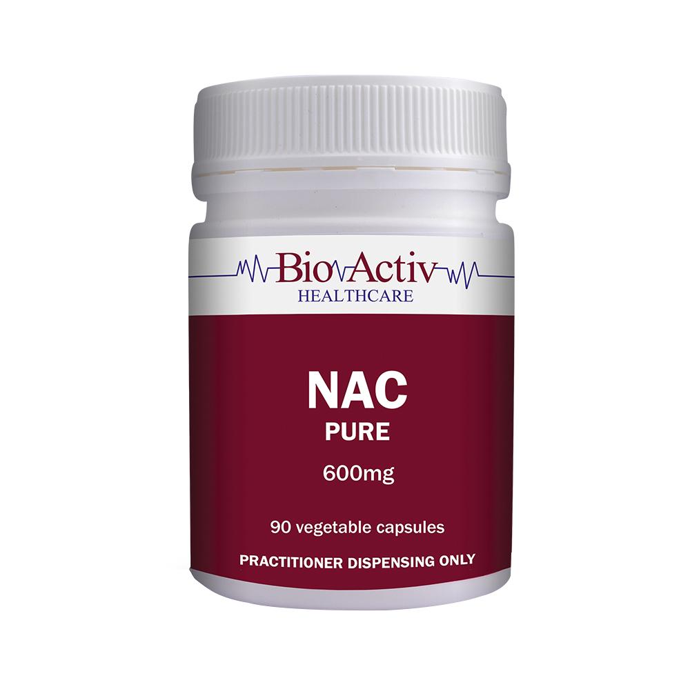 BioActiv Healthcare NAC Pure 600mg Capsules | N-Acetyl Cysteine Capsules