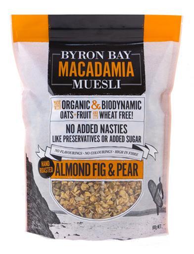 Byron Bay Macadamia Muesli - Roasted Almond Fig & Pear